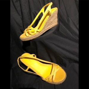🅾️🅱️🅾️ Montego Bay Club Yellow Wedges Size 7,